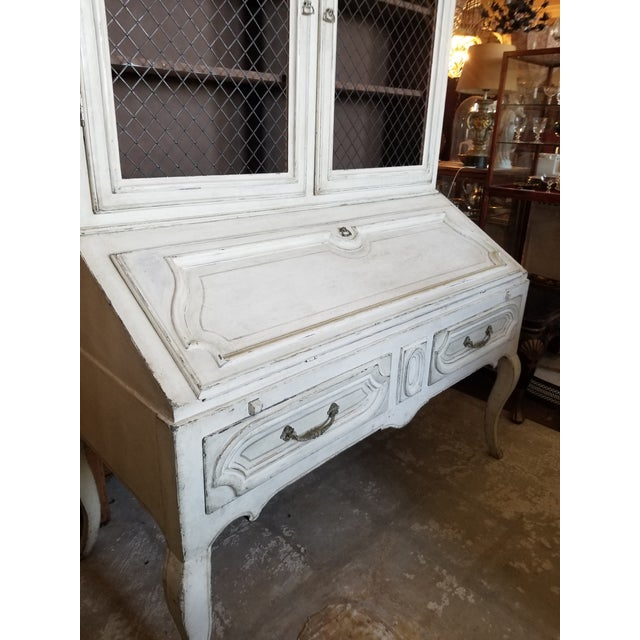 Wood Louis XVI Secretary by Minton Spidell For Sale - Image 7 of 12