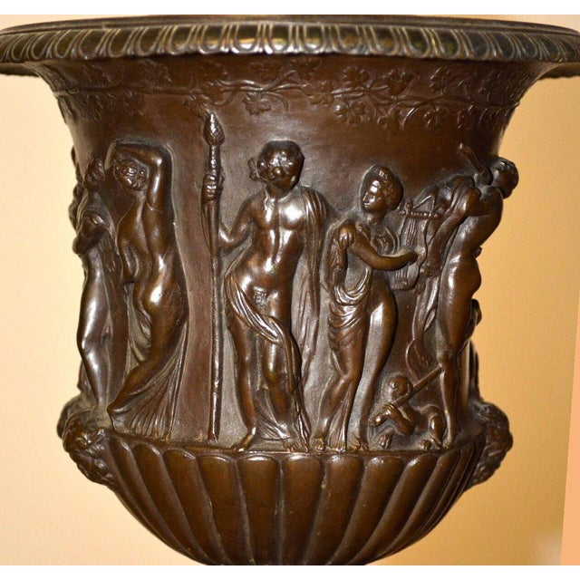 Pair of Barbedienne Bronze Medici Urn Lamps For Sale In Palm Springs - Image 6 of 7