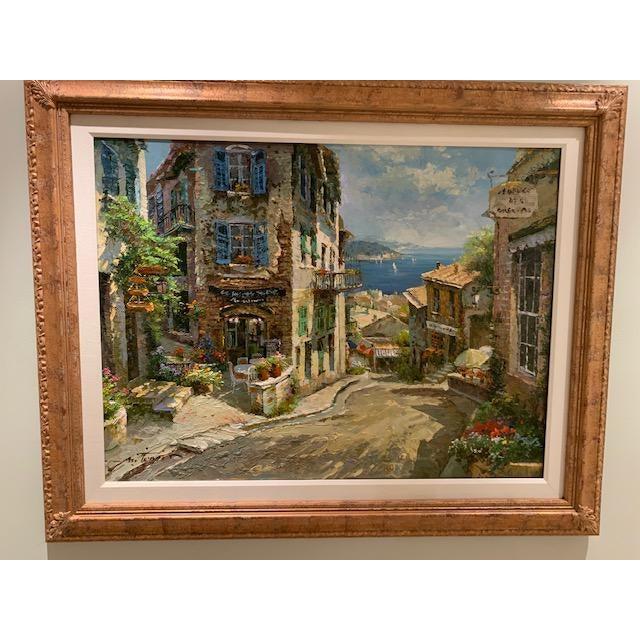 Original painting of Portofino Italy. Very beautiful and bright oil painting of famous Italian city Portofino. Hand...