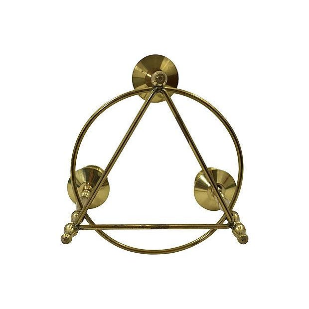 Brass Deco-Style Tripod Candelabra - Image 4 of 4
