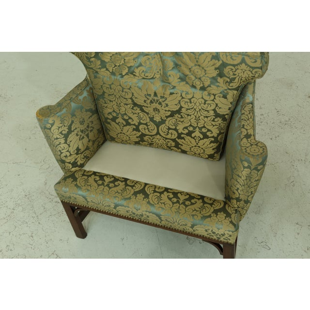 Kittinger Chippendale Mahogany Wing Back Chair For Sale - Image 12 of 13