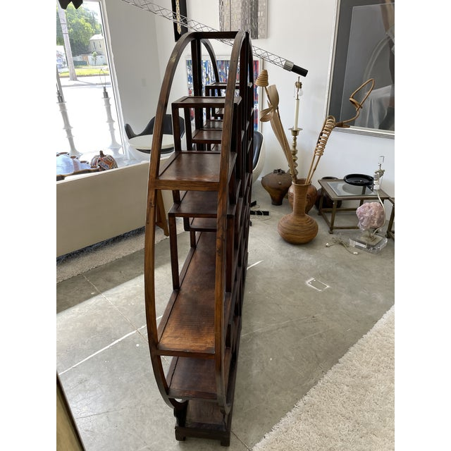 1960s Asian Style Wooden Etagere For Sale - Image 9 of 11