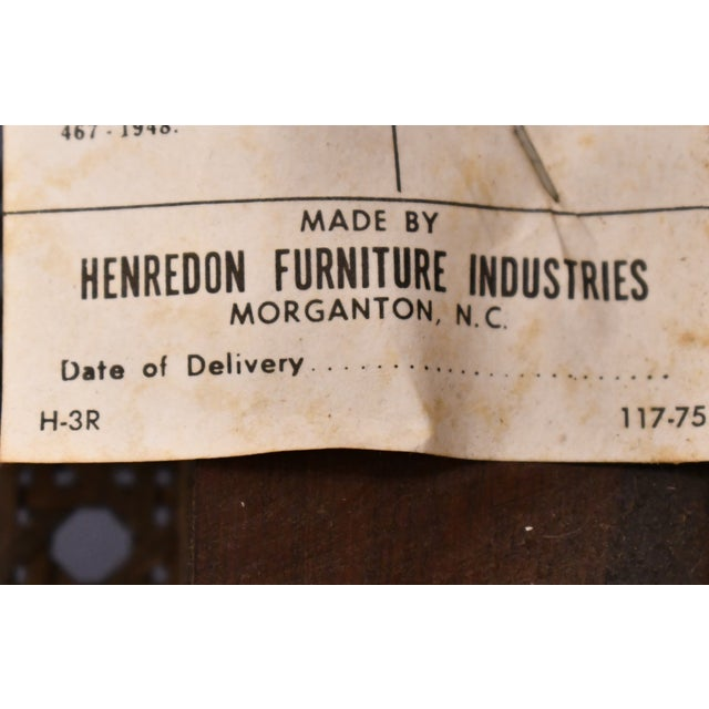 Henredon Furniture Pan Asian Collection Side Chair For Sale - Image 10 of 11