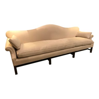 1950s Chippendale Single Cushion Camelback Sofa