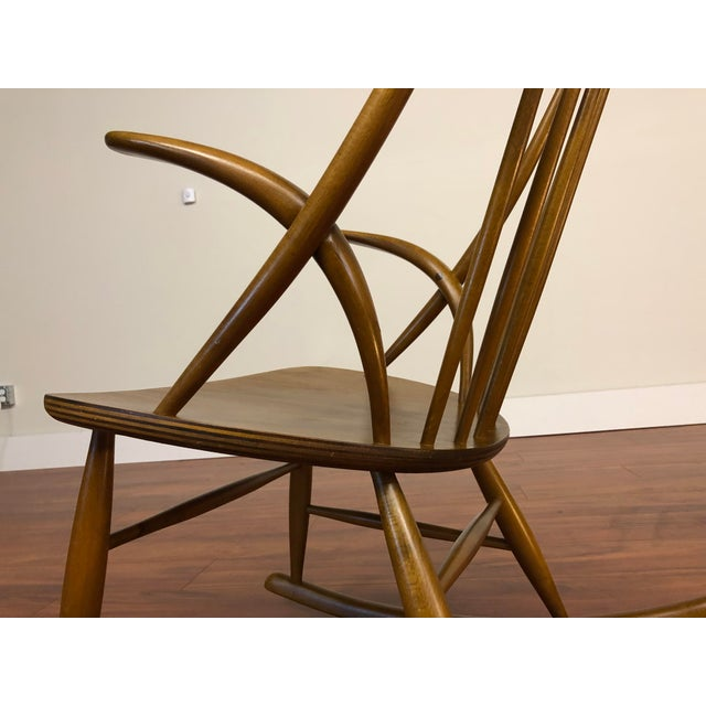 Illum Wikkelso for Niels Eilersen Gyngestol Rocking Chair For Sale - Image 10 of 13