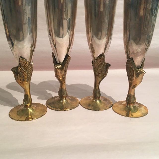 Godinger Silver Plated & Brass Bird Goblets - Set of 4 - Image 11 of 11