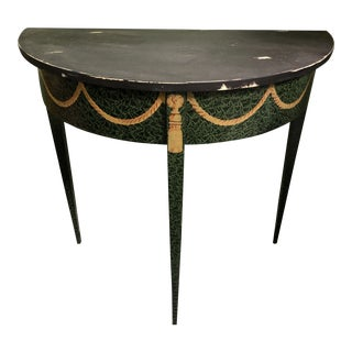 Maitland Smith Demilune Accent Table For Sale