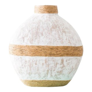 Haitian Handmade Paper Mache Vase For Sale