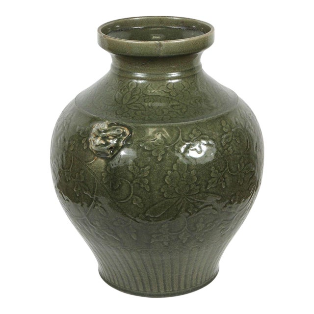 Celadon Chinese Green Vase For Sale