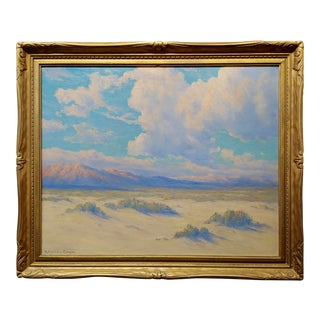 1920s Oil Painting Roi Clarkson Colman Painting of California Desert Landscape For Sale