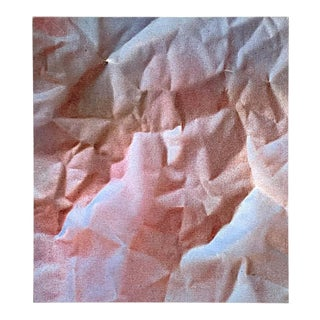 Modern Trompe-l'Oeil Crumbled Paper Oil Painting, Herb Phillips, 1995 For Sale