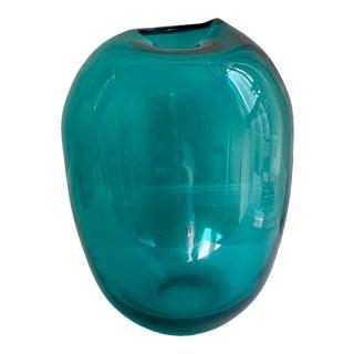 Mid-Century Modern Teal Vase For Sale