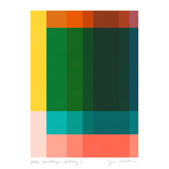 """Jessica Poundstone """"Both Something & Nothing 3"""" Abstract Art Print For Sale"""