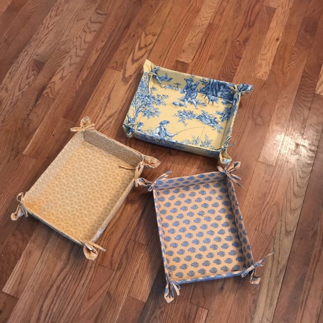 Pierre Deux Fabric Storage Trays - Set of 3 For Sale In New York - Image 6 of 6