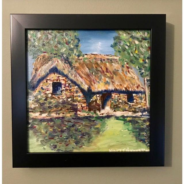 Paint Nancy T. Van Ness Irish Home Original Oil Painting For Sale - Image 7 of 7