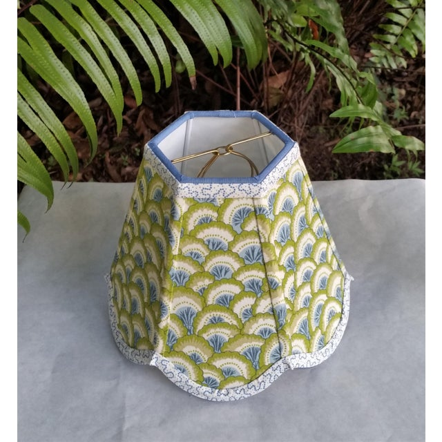 Lampshade Clip on Brunschwig Fils Fabric For Sale - Image 4 of 10