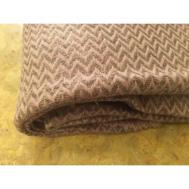 Large Pink Cashmere Blanket - Image 3 of 11