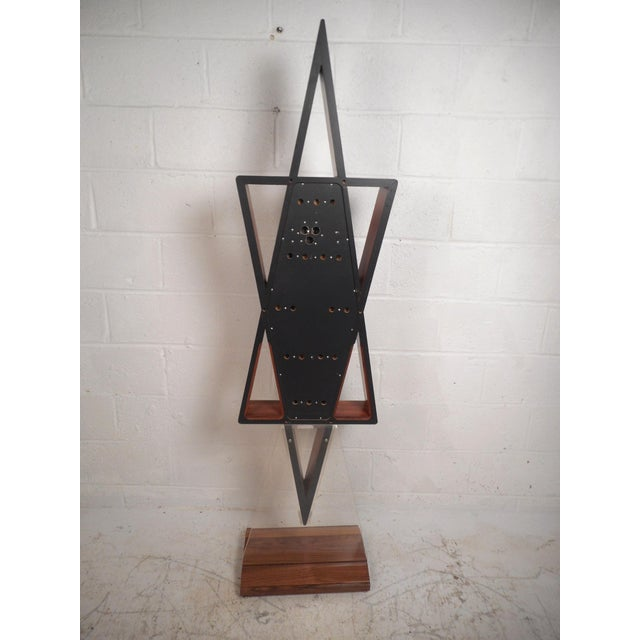 Mid-Century Modern Midcentury Howard Miller Floor Clock For Sale - Image 3 of 12