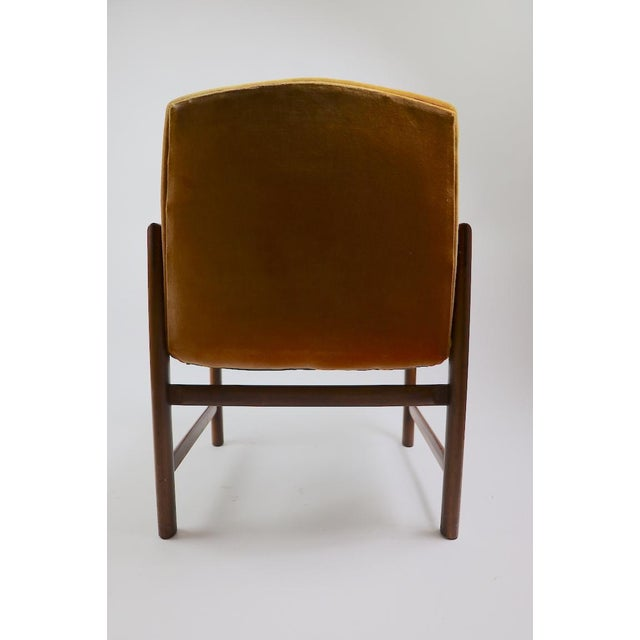 Set of 6 Rosewood Frame Dining Chairs by Baughman For Sale - Image 12 of 13