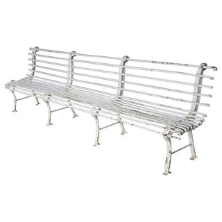 Long French Iron Bench For Sale