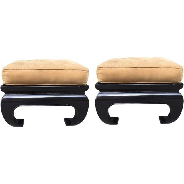 Pair of Asian James Mont Style Benches - Image 3 of 3
