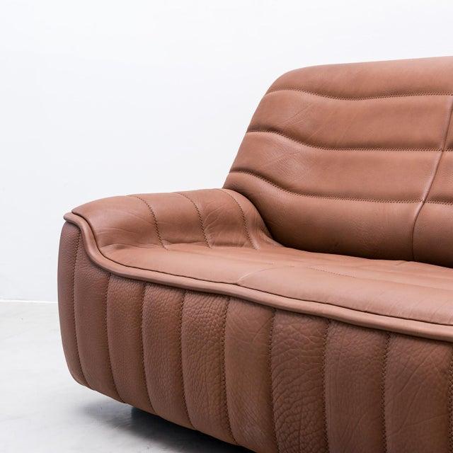 1970s Original De Sede Model Ds84 Sofa in Cognac Buffalo Leather, 1970s For Sale - Image 5 of 9