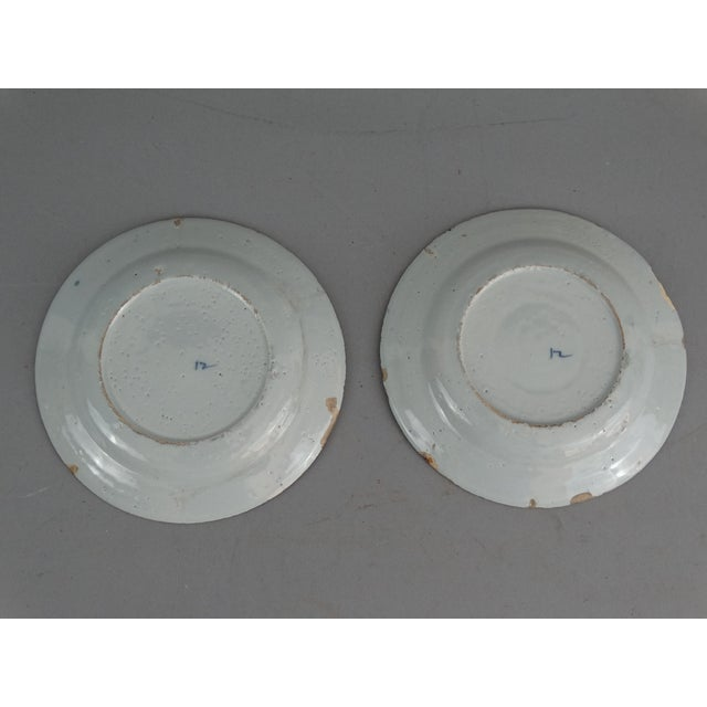 Antique Dutch Delft Chinoiserie Plates- A Pair - Image 7 of 7