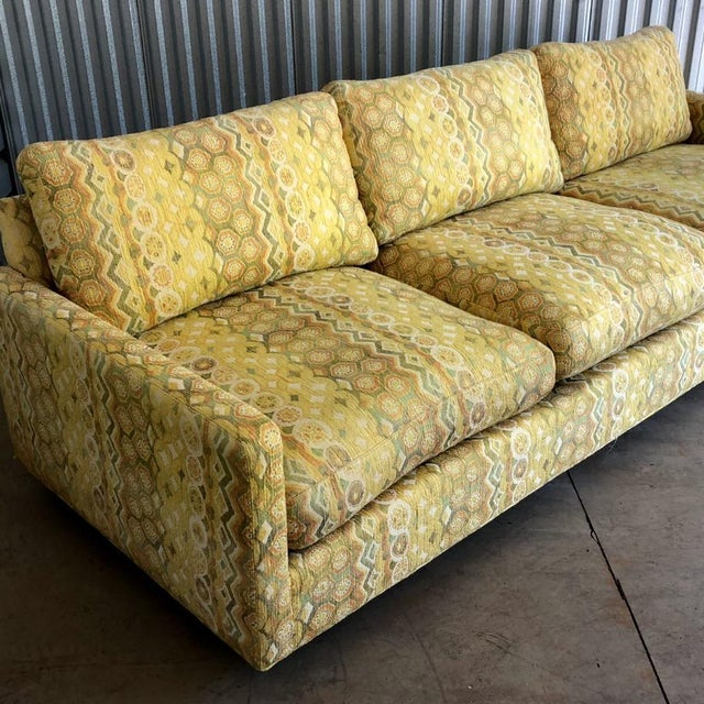 Thayer Coggin Milo Baughman for Thayer Coggin Woven Jacquard Sofa For Sale - Image 4 of 8