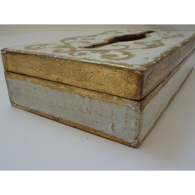 Vintage Florentine Gold Gilt Tissue Box For Sale - Image 4 of 9
