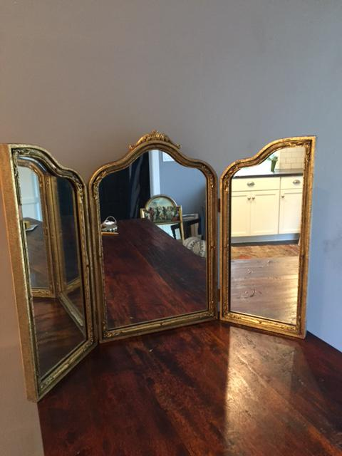 Vintage 1960s Trifold Vanity Table Mirror   Image 3 Of 7