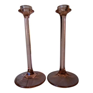 Vintage Tall Candle Holders - A Pair For Sale
