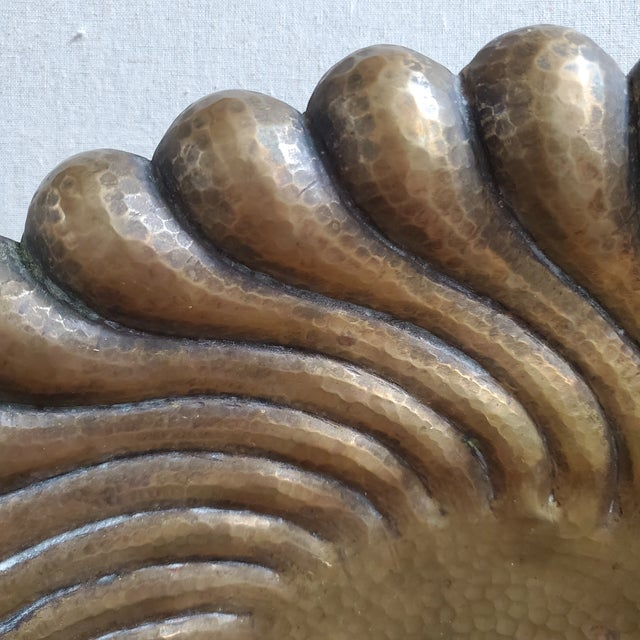 Mid-Century Modern Egidio Casagrande Italian Brass Footed Bowl For Sale - Image 3 of 9