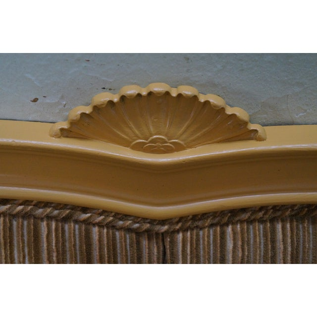 Vintage French Louis XV Style Tufted Upholstered King Headboard For Sale In Philadelphia - Image 6 of 10