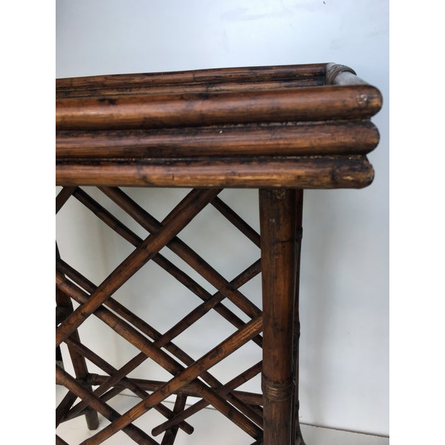 Boho Chic Bamboo Wine Rack & Tray Table For Sale - Image 3 of 6