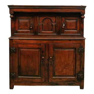17th Century English Court Cupboard in Oak For Sale