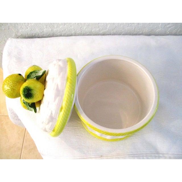 1980s 1980s Vintage Ceramic Lemon Canister For Sale - Image 5 of 6