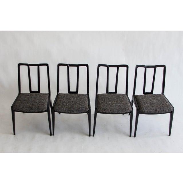 Ebonized John Stuart Dining Chairs - Set of 4 - Image 7 of 7
