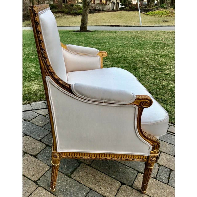 Gilt Wood Louis XVI Style Loveseat For Sale In New York - Image 6 of 8