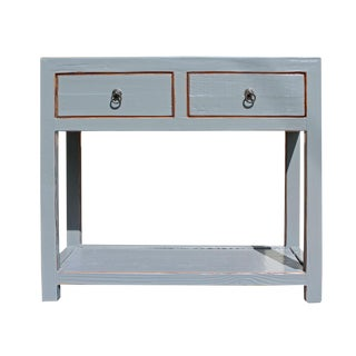 Chinese Gray Raw Wood Console Table For Sale