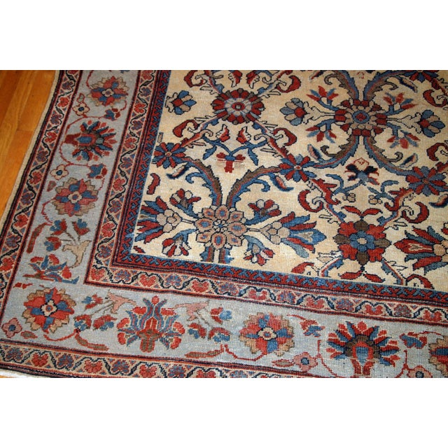 1900s Handmade Antique Persian Mahal Rug 9.2' X 11.6' For Sale - Image 9 of 11