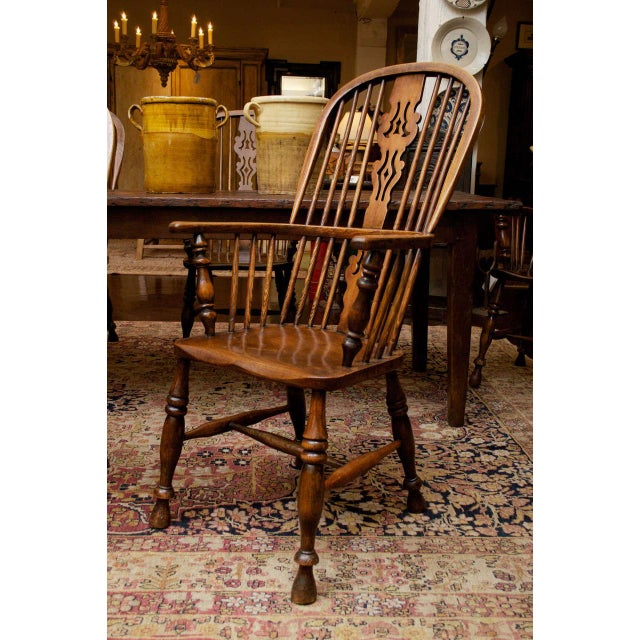 Set of Eight High-back Windsor Armchairs, English circa 1850 For Sale - Image 4 of 10