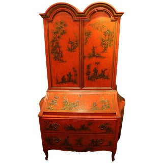 Vintage Chinoiserie Secretary on Drawers