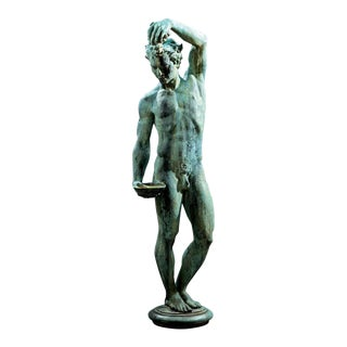 American Lifesize Bronze Statue of Nude Male by Mathilde M. Mylander, 1940