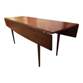Broyhill Mid-Century Walnut Folding Dining Table For Sale