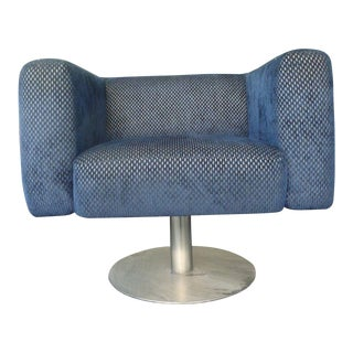 1970's Mid-Century Modern Jetson's Swivel Club Chair For Sale