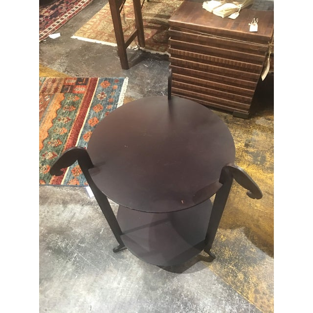 Black Sarreid Forged Horse Leg Side Table For Sale - Image 8 of 13