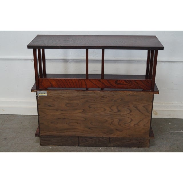 Chinese Arts & Crafts Red Elm Wood Narrow Console For Sale - Image 4 of 10