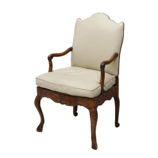 French Louis XV Style Armchair on Cabriole Legs, Late 18th Century For Sale