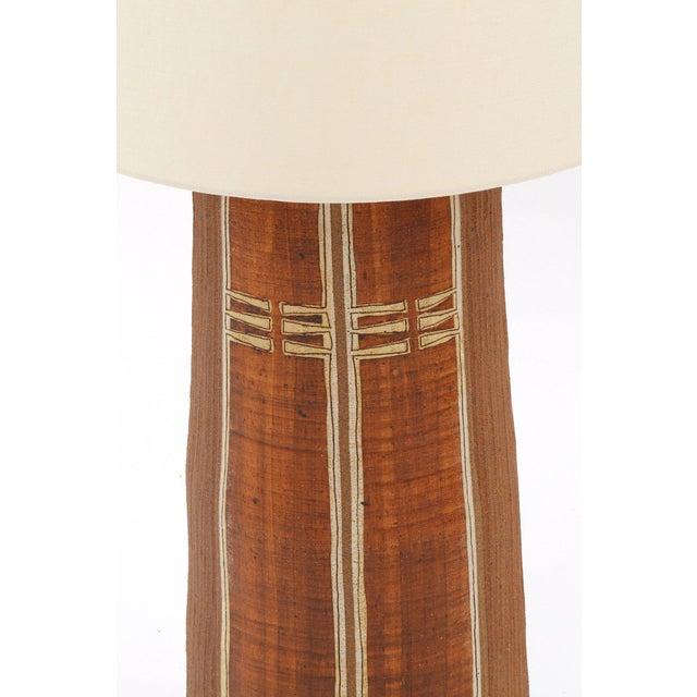 Mid-Century Modern Monumental Glazed Earthenware Lamp For Sale - Image 3 of 5
