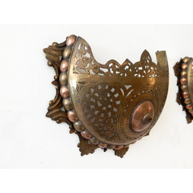 Moroccan Wall Sconces - A Pair - Image 6 of 8
